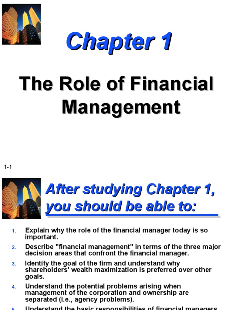 chapter 5 1 problems in fundamental concepts of financial management The management functions of planning, organizing, leading, and controlling are widely  77 building your change management skills chapter 8:  155 financial.