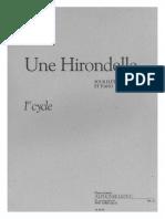 Une hirondelle pour Flûte et Piano de Pascal PROUST.pdf