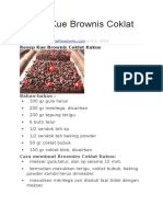 Resep Kue Brownis Coklat Kukus