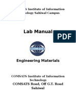 Engineering Materials Lab Manual