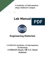 Engineering Materials Lab Manual