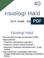 Fisiologi Haid Dr Ariadi