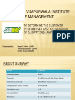 Subway Ppt