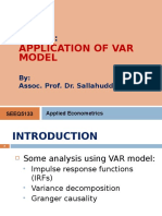 Lecture 8 Application of VAR Model
