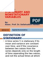 Lecture 6 Stationarity and Cointegration