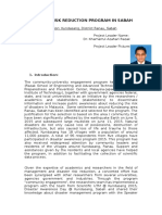 2016 Format Pelaporan Artikel Sokongan_DrKhamarrul_DisasterRiskReductionSabah