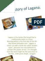 the history of lagana