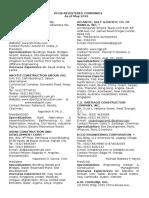 Regcon Directory May 2016