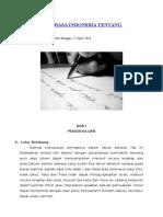 Makalah Bahasa Indonesia Tentang Kalimat