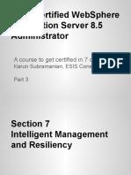IBM Certified WAS 8.5 Administration Intelligent Management
