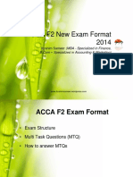 ACCA F2 New Exam Format 2014