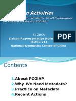 Xu Zhou Metadata Activities With PCGIAP