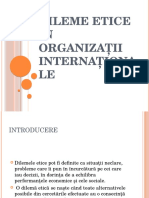 Dileme Etice În Organizații Internationale