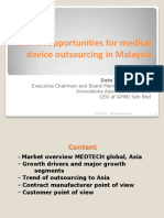 Medical Device Outsourcing Opportunities in Malaysia