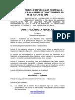 Constitucion Guatemala, 1945