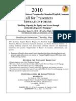 2010 ED Forum Proposals