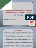 Procedimiento para el mejoramiento de cuadernos de Lengua y su revisión