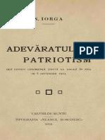 N. Iorga - Adevaratul Patriotism