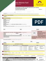 Birla SL India Reforms Fund Application Form