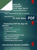 deploying PHP app on  Heroku.pptx