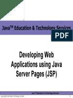 Developing Web Applications Using Java Server Pages (JSP) Final