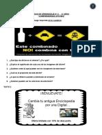 GUIA DE APRENDIZAJE afiches6°