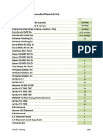 ACS 2014 Materials List