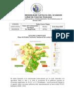 Mapa del Modelo Territorial Tendencial del cantón Quinindé