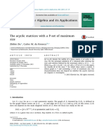 The Acyclic Matrices With a P Set of Maximum Size 2015 Linear Algebra and Its Applications