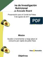 Investigaciones en Nutricion Hass Avocado Board