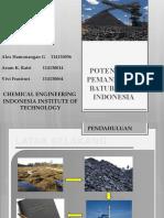 Potensi, Pemanfaatan, Dan Kebijakan Pertambangan Batubara Indonesia