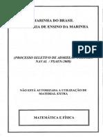 PROVA-EscolaNaval Mat Física Amarela 2008