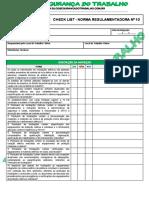 Modelo - Check List Da Norma Regulamentadora Nº 10