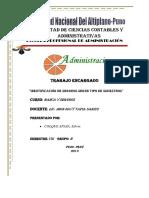 IDENTIFICACIÓN DE SEGUROS SEGÚN TIPO DE SINIESTROS
