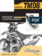 Manual Alarma Thunder TM08