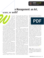 Is Supply Chain Management an Art or Craft or Both--Guest Column-PARCEL Magazine March-April 2016