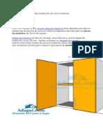 Plano y Diseño Con Medidas Mueble Alto de Cocina Melamina