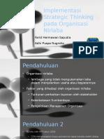 Implementasi Strategic Thinking Pada Organisasi Nirlaba