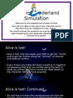alice in wonderland and victorian era simulation
