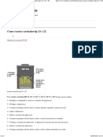 Como Resetar Cartuchos Hp 21 e 22 - Tutoriais e Dicas Sobre Recarga de Cartuchos