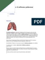 Cómo Tratar El Enfisema Pulmonar