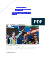 Bolivia, El País Que Más Crece en Latinoamérica