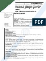 NBR 213 - Seguranca de Maquinas - Conceitos Fundamentais Principios Gerais de Projeto - Parte 2 P