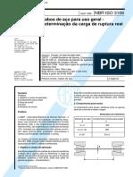 NBR 3108 - Cabos de Aco Para Uso Geral - Determinacao Da Carga de Ruptura Real