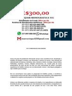 barueri MONOGRAFIA E TCC PARA TODOS OS CURSOS R$300,00
