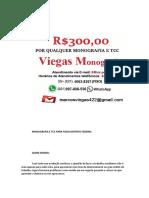 Brasilia MONOGRAFIA E TCC PARA TODOS OS CURSOS R$300,00