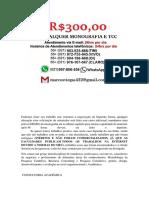Curitiba MONOGRAFIA E TCC PARA TODOS OS CURSOS R$300,00