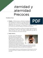Maternidad y Paternidad Precoces