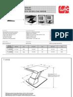 7100 TM MONITOR LIFT MONTE-ÉCRAN PEDESTAL