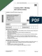 144855 Question Paper Unit a161 02 Modules b1 b2 b3 Higher Tier